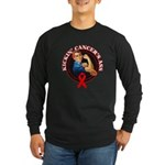 Kickin' Blood Cancer's Ass Long Sleeve Dark T-Shir