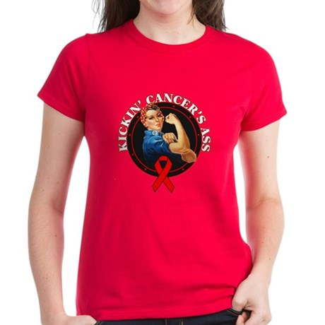 Kickin' Blood Cancer's Ass Women's Dark T-Shirt