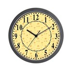 Dark Yellow Cheese Look Wall Clock