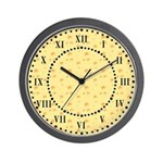 Dark Yellow Cheese Roman Digit Wall Clock