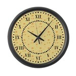 Dark Yellow Cheese Roman Digit Large Wall Clock