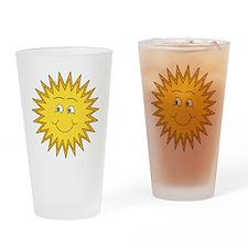 Happy Sun in Summer Drinking Glass