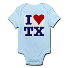 I LOVE TX Infant Creeper
