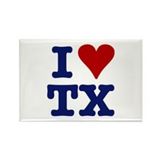 I LOVE TX Rectangle Magnet