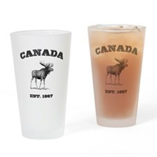 Canadian Moose Drinking Glass
