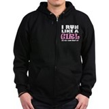 'I Run Like a Girl' Zip Hoodie