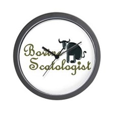 Bovine Scatologist Wall Clock