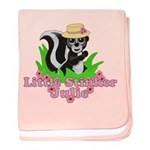 Little Stinker Julie baby blanket