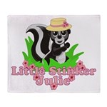Little Stinker Julie Throw Blanket