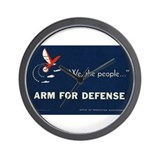 Arm for Defense Wall Clock