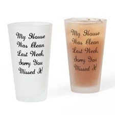 Clean House Drinking Glass