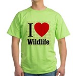 Wildlife Green T-Shirt