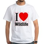 Wildlife White T-Shirt
