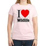 Wildlife Women's Pink T-Shirt