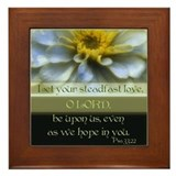 Flower/Psalms Framed Tile