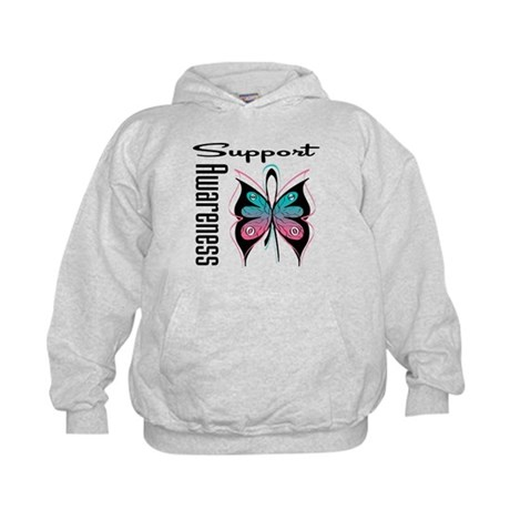Hereditary Breast Cancer Support Kids Hoodie