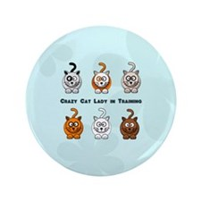 "Crazy Cat Lady In Training 3.5"" Button (100 pack)"