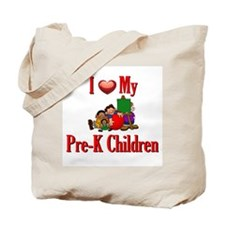 I Love My Pre-K Kids Tote Bag