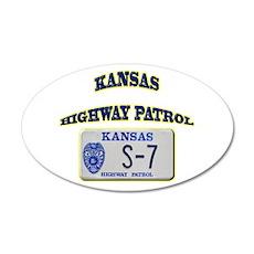 Kansas Highway Patrol 22x14 Oval Wall Peel
