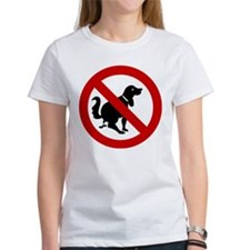 No Dog Poop Sign Tee