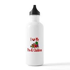 I Love My Pre-K Students Sports Water Bottle