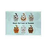 Crazy Cat Lady In Training Rectangle Magnet (10 pa