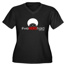 #WeNerdHard Tees Women's Plus Size V-Neck Dark T-S