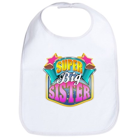Pink Super Big Sister Bib