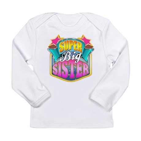 Pink Super Big Sister Long Sleeve Infant T-Shirt