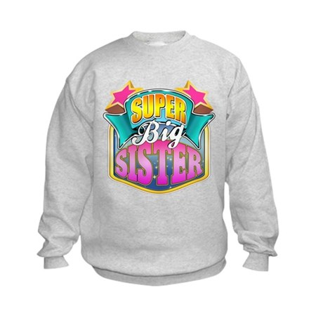 Pink Super Big Sister Kids Sweatshirt