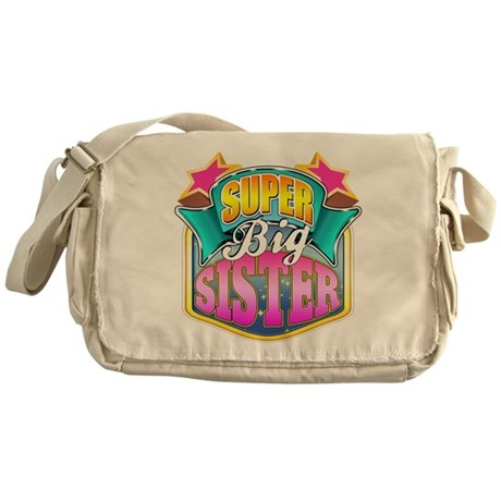 Pink Super Big Sister Messenger Bag