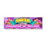 Pink Super Big Sister Car Magnet 10 x 3