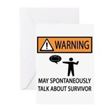 Spontaneously Talk Survivor Greeting Cards (Pk of