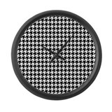 HOUNDSTOOTH Large Wall Clock