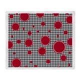 Houndstooth & Crimson Throw Blanket