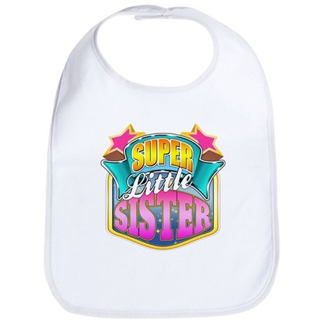 Pink Super Little Sister Bib