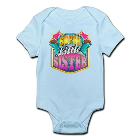 Pink Super Little Sister Infant Bodysuit