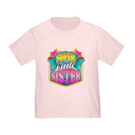 Pink Super Little Sister Toddler T-Shirt