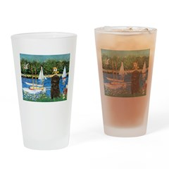 Sailboats / Affenpinscher Drinking Glass