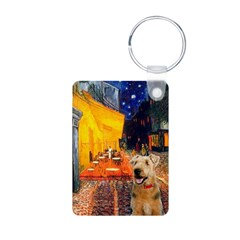 Cafe - Airedale (S) Aluminum Photo Keychain