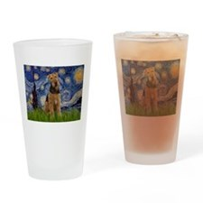 Starry - Airedale #1 Drinking Glass