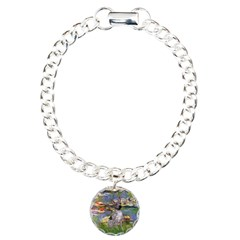 Lilies2-Am.Hairless T Charm Bracelet, One Charm