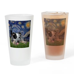 Starry-AussieCattleDogPup Drinking Glass