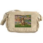 Lilies2-Australian Shep (#5) Messenger Bag