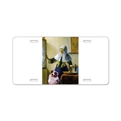 Pitcher-Aussie Shep1 Aluminum License Plate