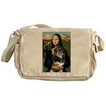 MonaLisa-Aussie Shep (Tri-L) Messenger Bag