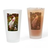 Windflowers-AussieShep (L) Drinking Glass