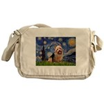 Starry-AussieTerrier Messenger Bag