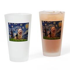 Starry-AussieTerrier Drinking Glass