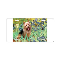 Irises - Aussie Terrier Aluminum License Plate